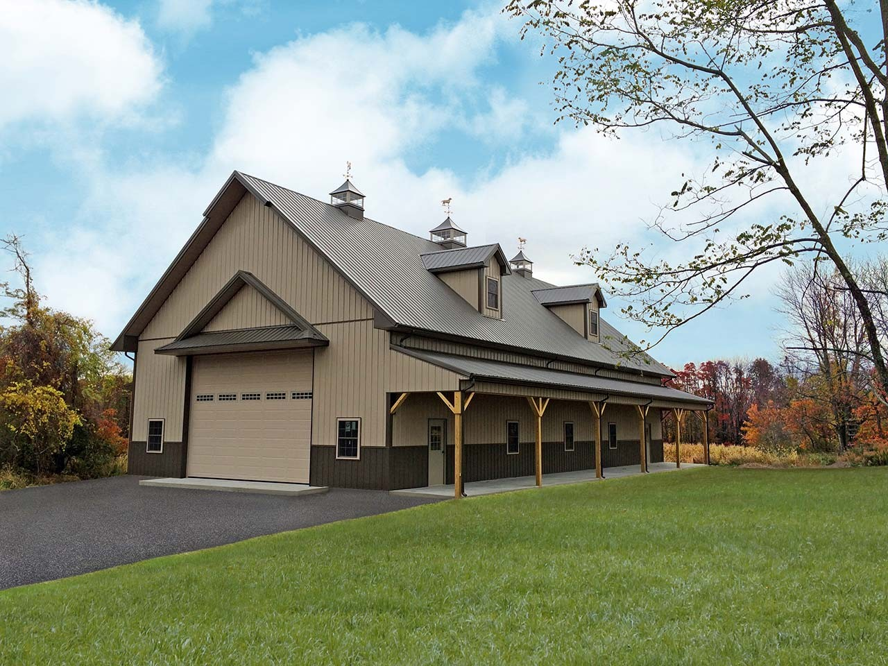 Residential pole barn houses joy studio design gallery for Barn home builders
