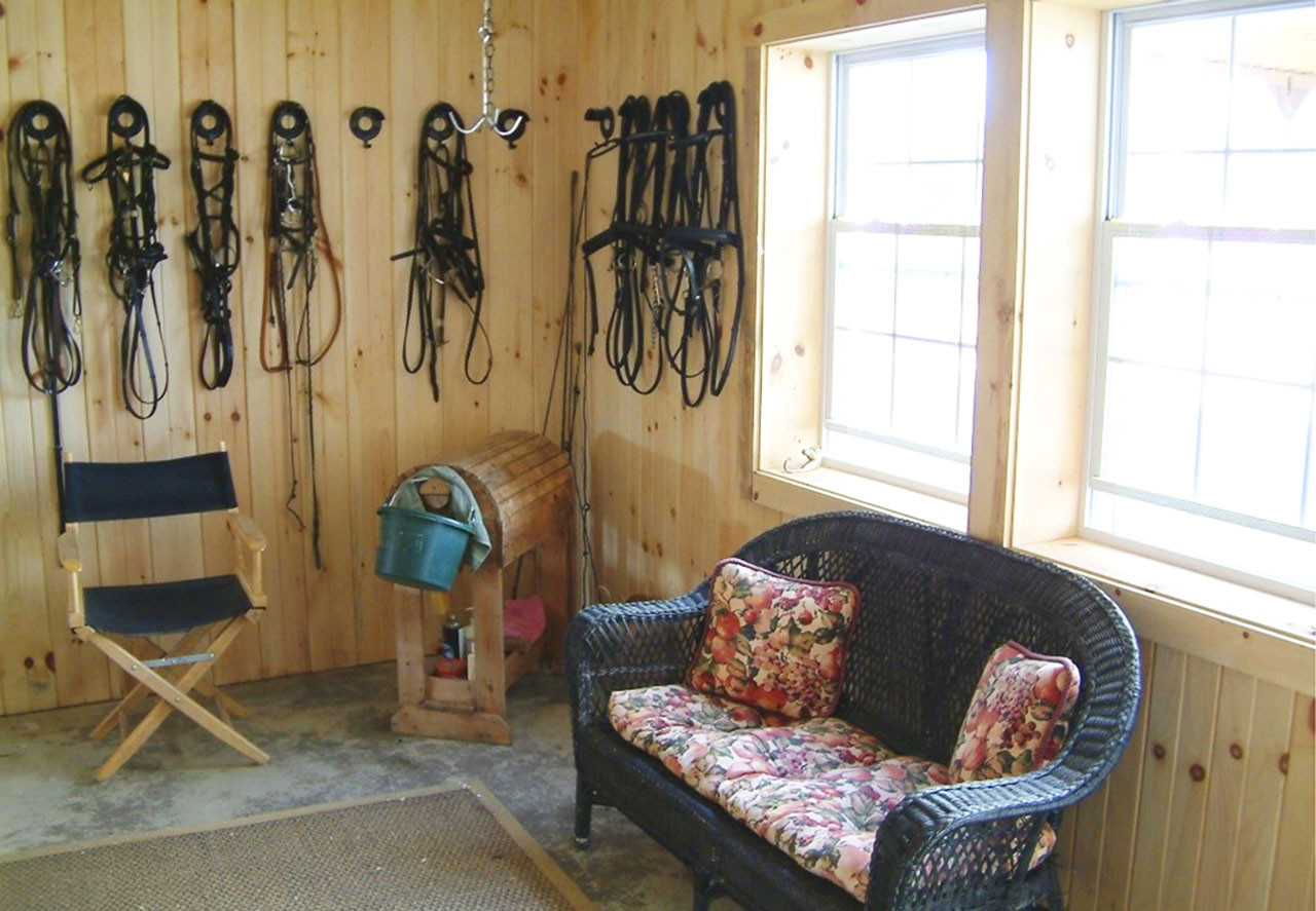 Finished Tack Room Tri State Buildings